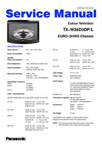 manuel de réparation Panasonic TX-W36D3DP/L