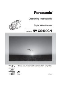 Manual del usuario Panasonic NV-GS400GN