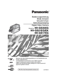 User Manual Panasonic NV-GS35EG