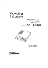 User Manual Panasonic KX-T1456BS