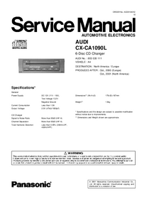 Manual de servicio Panasonic CX-CA1090L