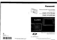 Manual del usuario Panasonic DMC-FX2EGM