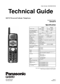 Manual de servicio Panasonic GD70