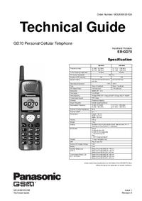 Руководство по техническому обслуживанию Panasonic GD70