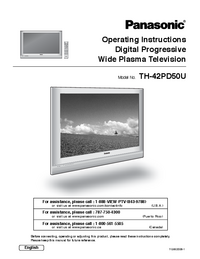User Manual Panasonic TH-42PD50U