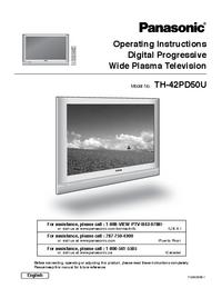 Manuel de l'utilisateur Panasonic TH-42PD50U