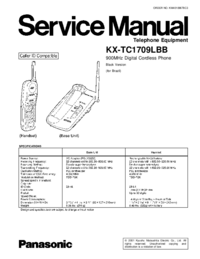 Manual de servicio Panasonic KX-TC1709LBB