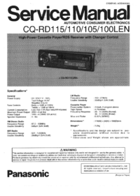 Service Manual Panasonic CQ-RD105