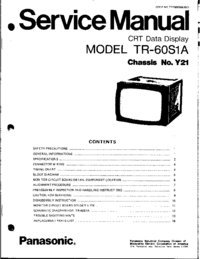 Service Manual Panasonic Y21