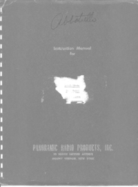 Service and User Manual Panorami SA-8a T-200