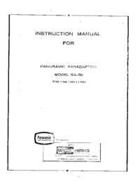 User Manual Panorami SA-8b T-1000
