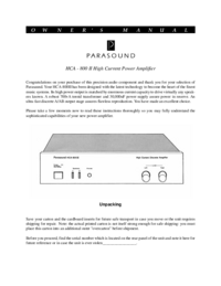 Parasound-8311-Manual-Page-1-Picture