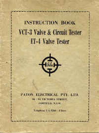 Manual del usuario Paton VCT-3