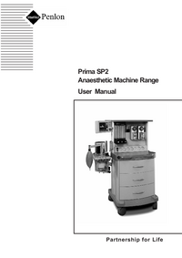 Gebruikershandleiding Penlon Prima SP2