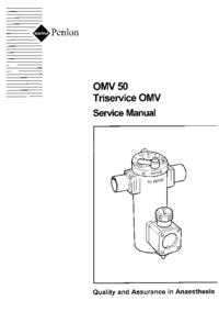 Руководство по техническому обслуживанию Penlon OMV 50