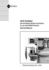 manuel de réparation Penlon AV-S