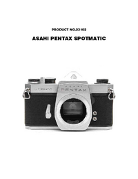 Service Manual Pentax Spotmatic 23102