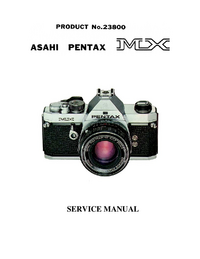 Manual de servicio Pentax MX 23800