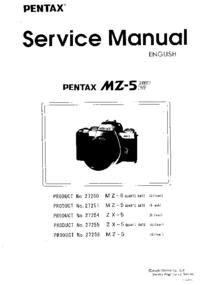 Instrukcja serwisowa Pentax MZ-5