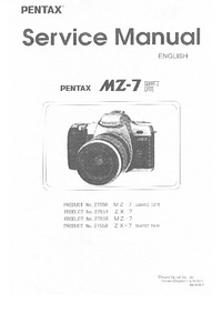 Service Manual Pentax ZX-7 Quartz Date 27558