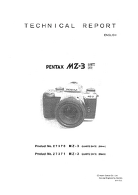 Service Manual Pentax MZ-3 Quartz Date 27371