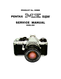 Manual de servicio Pentax ME super 23903
