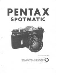 Service Manual Pentax Spotmatic