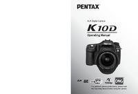Manuel de l'utilisateur Pentax K10D
