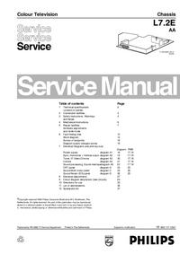 Руководство по техническому обслуживанию Philips L7.2E AA
