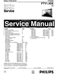 Manual de servicio Philips FTV1.9DE AA