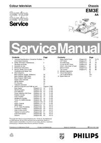 manuel de réparation Philips EM3E AA