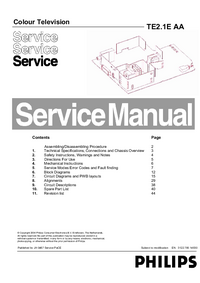 Manual de servicio Philips TE2.1E AA