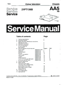 Manual de servicio Philips 21PT136B