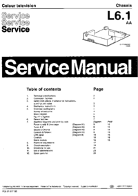 Service Manual Philips L6.1 AA
