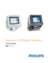 Service Manual Philips Respironics V200