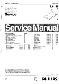 Service Manual - Philips L9 1E AA - TV chassis -- Stop