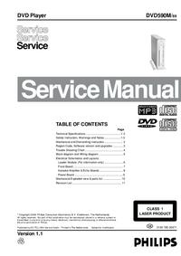 Manual de servicio Philips DVD590M /69