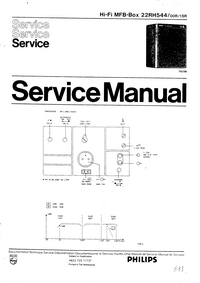 Manual de servicio Philips 22RH544 00R