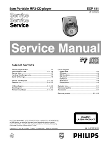 Manual de servicio Philips EXP 411