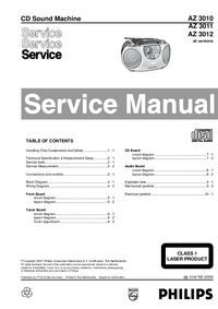 Manual de servicio Philips AZ 3010