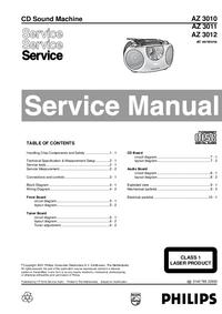 Руководство по техническому обслуживанию Philips AZ 3012