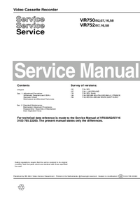 Manual de servicio Philips VR750 16