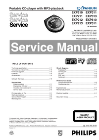 Manual de servicio Philips EXP311