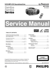 Manual de servicio Philips AZ 5150
