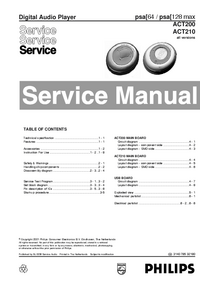 Manual de servicio Philips ACT210