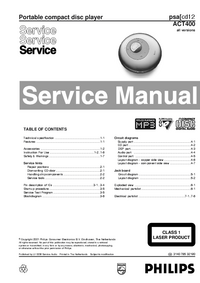 Service Manual Philips psa cd12