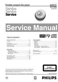 Manuale di servizio Philips ACT300