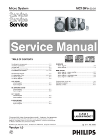 Servicehandboek Philips MC150 21