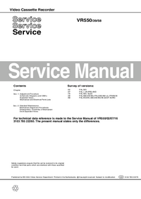 Service Manual Philips VR550 39