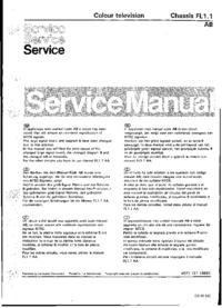 manuel de réparation Philips FL1.1 AB